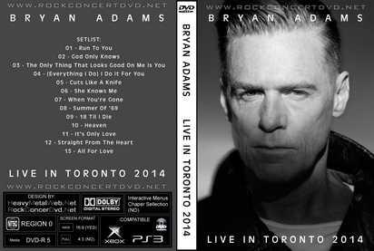 Bryan adams live in toronto 2014 dvd - Bryan adams room service live in lisbon ...