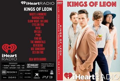 KINGS OF LEON Live iHeartRadio Theater, Burbank, CA 01-30-2017 DVD