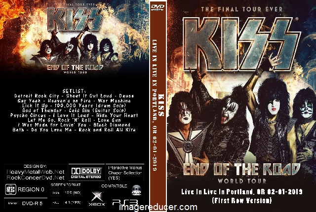 KISS End Of The Road Tour Live In Live In Portland, OR 02-01-2019