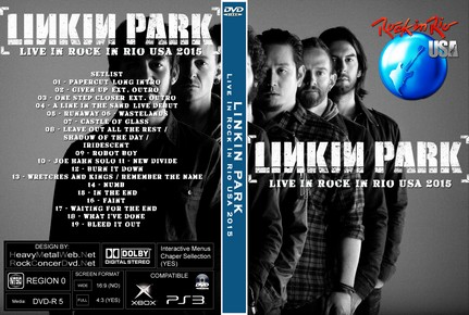 LINKIN PARK Live In Rock In Rio USA 2015 DVD