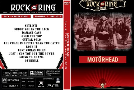MOTORHEAD Live At The Rock Am Ring 2015 DVD