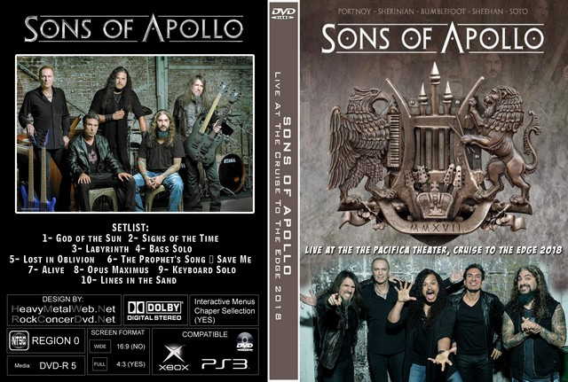 3635423f8d4 SONS OF APOLLO Live At The The Pacifica Theater, Cruise To The Edge 2018 DVD